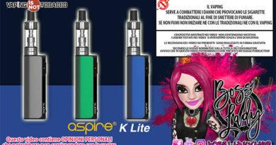 Aspire K Lite aspire k lite Aspire K Lite Recensione Boss Lady Vaper aspire k lite ins 390x205