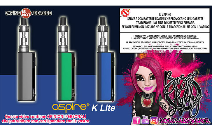 Aspire K Lite aspire k lite Aspire K Lite Recensione Boss Lady Vaper aspire k lite ins 727x445