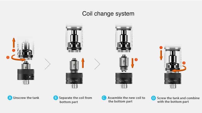 q16-pro-cambiare-la-coil justfog q16 pro