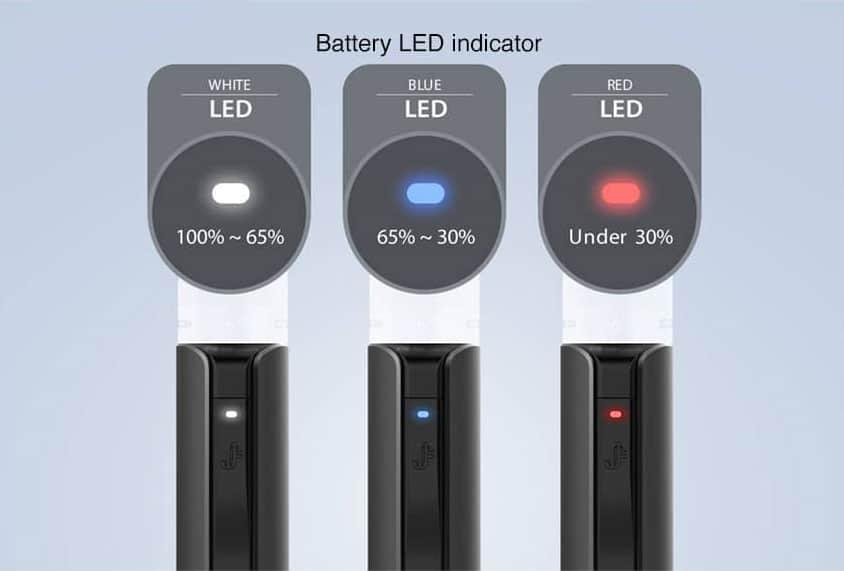 q16-pro-led-di-ricarica-batteria justfog q16 pro