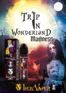 Iron Vaper Trip In Wonderland Madness [object object] IRON VAPER TRIP IN WONDERLAND MADNESS AROMA 20ML Halloween Flyer 214x300