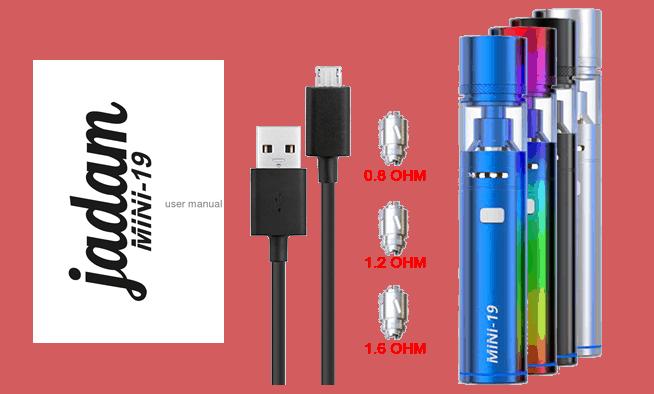Mini-19 Jadam Sigaretta Elettronica contenuto-confezione mini-19 jadam