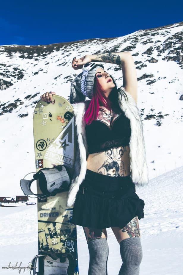 modelle sulla neve