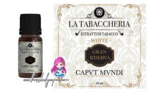 La Tabaccheria CAPVT MVNDI White Aroma 10 ml Gran Riserva la tabaccheria capvt mvndi liquidi sigaretta elettronica recensioni